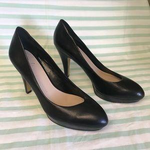 Franco Sarto Artist Collection Black Leather Heels